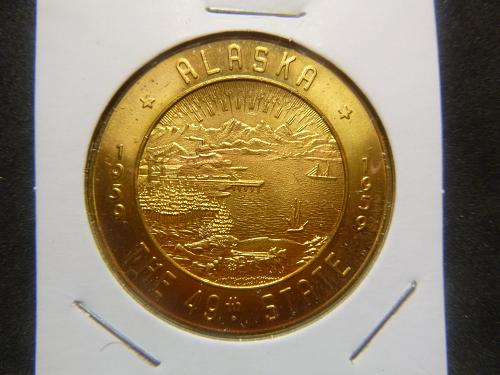 ALASKA THE 49TH STATE 1959 COMMERATIVE TOKEN