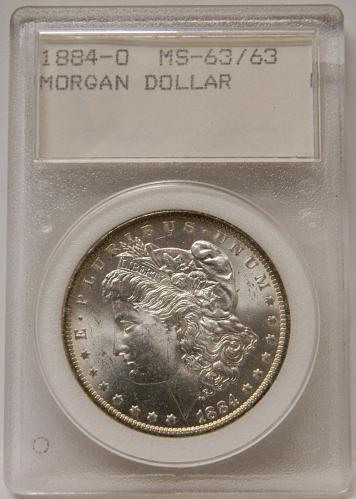 1884-O Morgan Dollar MS63/63 Rare WMP Slab Holder