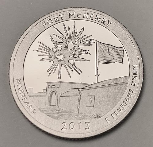 2013-S Proof Quarter: America the Beautiful- Fort McHenry [BSWQ 476]