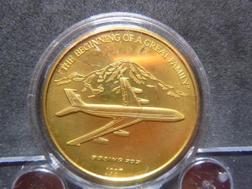 BOEING 707 1997 1.5 OZ BRONZE
