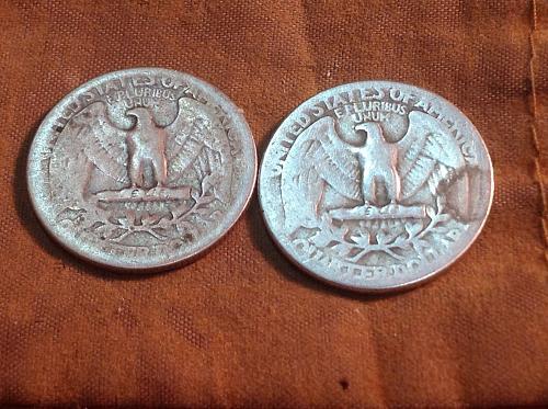 (2) 1940 P Washington Quarters