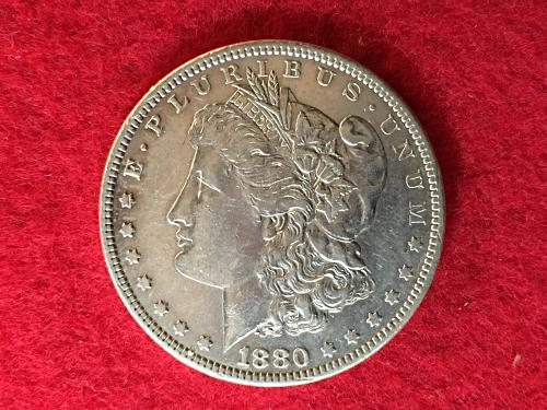 1880 Morgan Silver Dollar MSD S1$ Cleaned FREE Shipping!