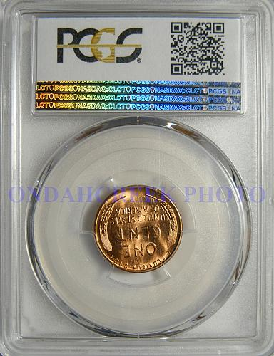 1955-S Lincoln Cent PCGS MS-65 Red Retained Cud Reverse Error