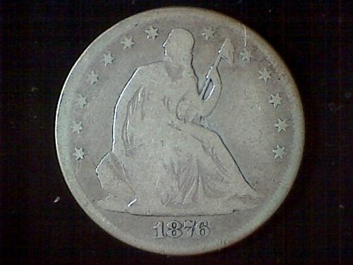 1876-s Seated Liberty Half Dollar