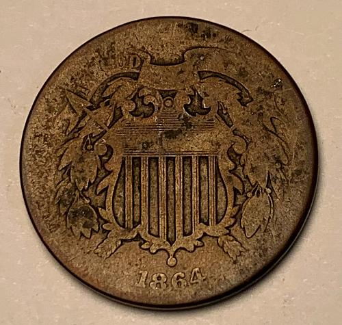 1864 Two Cent [2c 22]