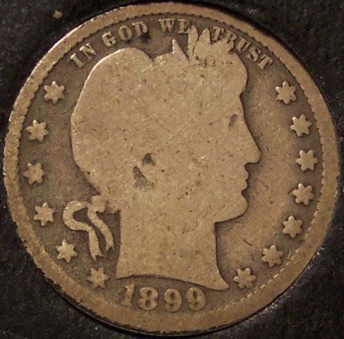 1899 Barber Silver Quarter G #0023