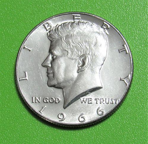 1966 50 Cents - Kennedy Half Dollar - 40% Silver
