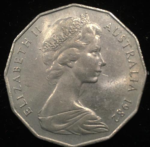 Australia  50 cents  1982