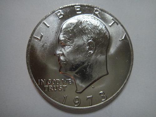 1973-D Eisenhower Dollar MS-65 (GEM) Very Scarce This Grade!