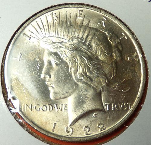 1922 Peace Dollar  MS63  #$-1922-4