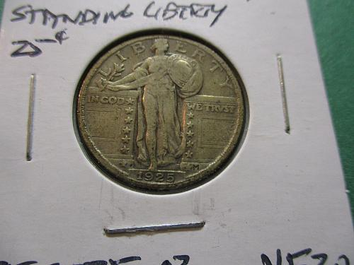 1925  VF20 Standing Liberty Quarter.  Item: 25 ST25-02.