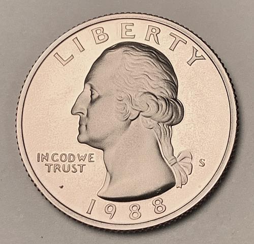 1988-S Proof Washington Quarter [BSWQ 537]
