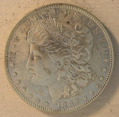 1887-O Morgan dollar