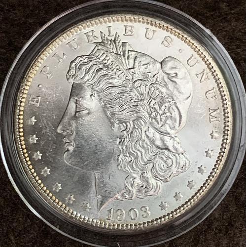 1903-P GEM Choice BU/MS++++ (MS64+?) Reflective Original Mint Luster Morgan USD$