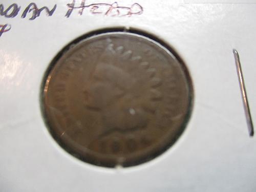 1904  G4 Indian Head Cent.  Item: 1 I04-01.