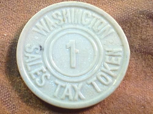 State of Washington Sales Tax Token
