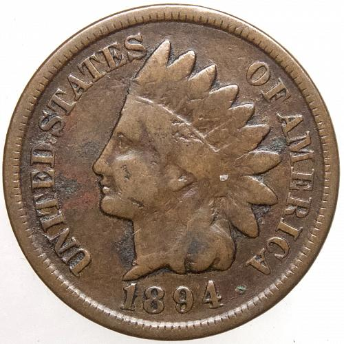1894 P Indian Head Cent #34