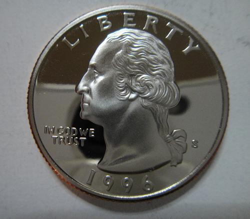 1996-S Clad Washington Quarter Proof-65 (GEM)