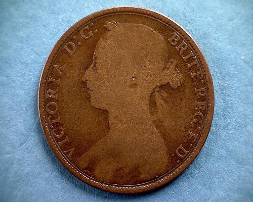 1889 GREAT BRITAIN ONE PENNY QUEEN VICTORIA