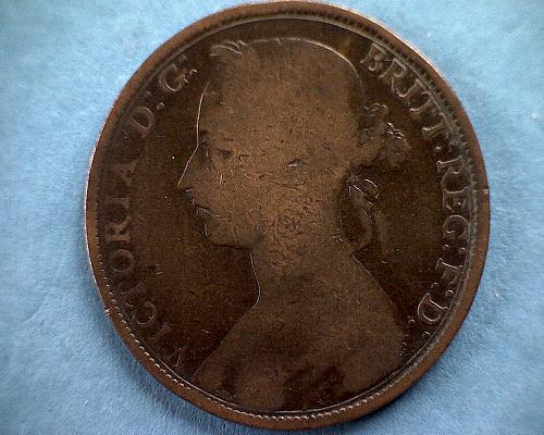 1890 GREAT BRITAIN ONE PENNY QUEEN VICTORIA