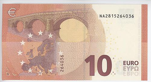 10 Euro 2014 BU. Printed in Austria. Pristine note never traded.