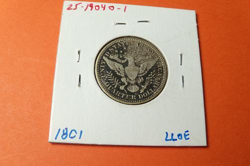1904O Barber Quarter  VF  #25-1904O-1