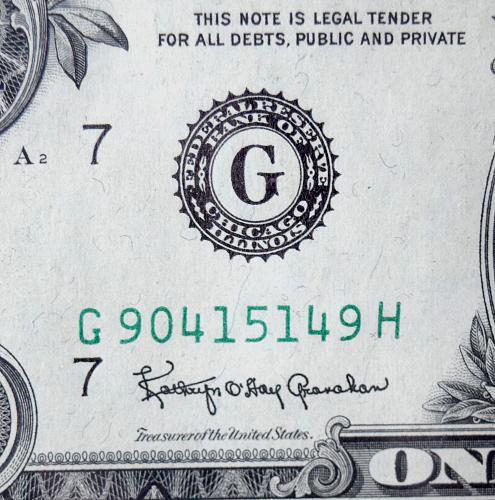 SERIES 1963 B BARR US DOLLAR CHICAGO ILLINOIS PRINTING