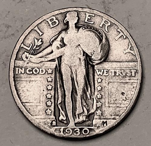 1930-S Standing Liberty Quarter VG10 [BSWQ 545]