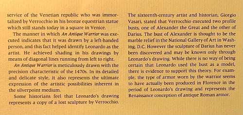 Genius of Leonardo SILVER Antique Warrior Medal