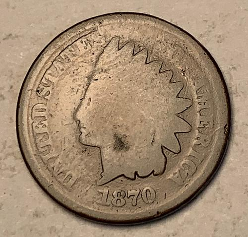 1870 Indian Head Cent G [IC 33]
