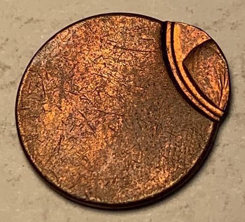 Lincoln Memorial Cent Off Center Striking Error [ER 16]