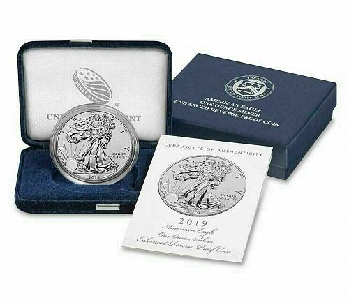 2019 S American Silver Eagle Bullion Coins : Enhanced Reverse Proof #02577