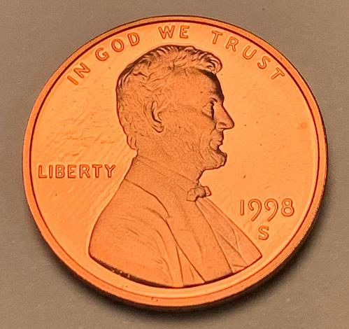 1998-S Proof Lincoln Memorial Cent [LC 176]