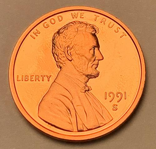 1991-S Proof Lincoln Memorial Cent [LC 186]