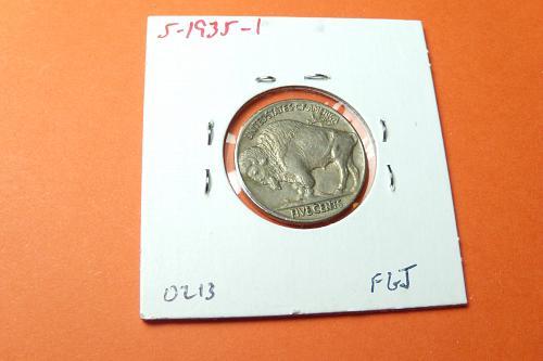 1935 Buffalo Nickel  AU55  #5-1935-1