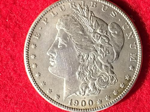 1900 Morgan Silver Dollar MSD S1$ FREE Shipping! Cleaned