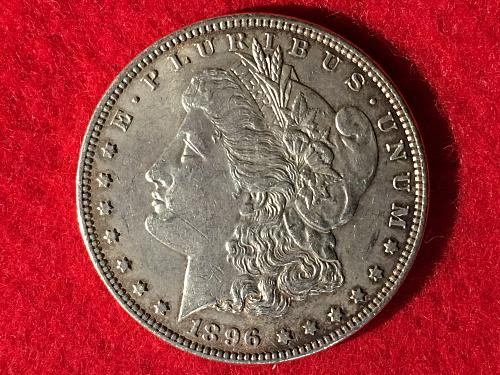 1896 Morgan Silver Dollar MSD S1$ FREE Shipping! Cleaned