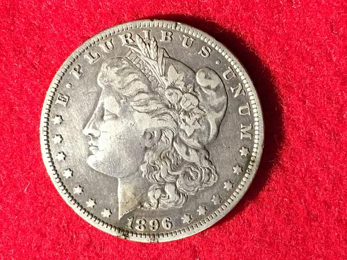 1896 O Morgan Silver Dollar MSD S1$ FREE Shipping! Cleaned
