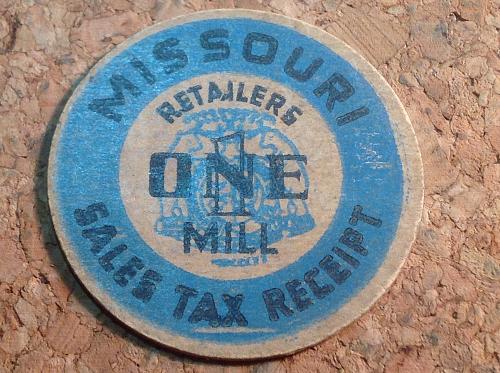 1930's Missouri Sales Tax Receipt