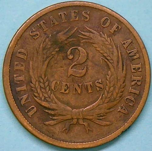 1865 Two Cents Two Cent Pieces  V2P2R5
