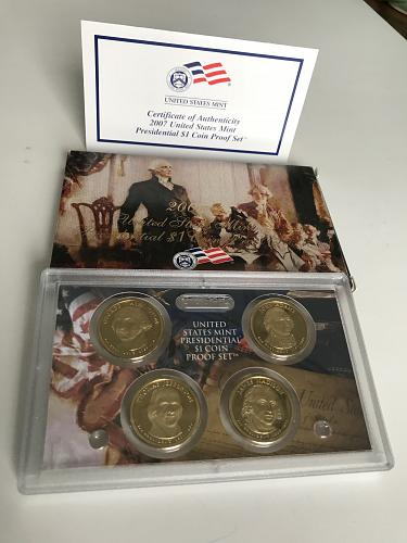 2007-S Presidential US Mint Proof Set W/box and COA (1121-2)