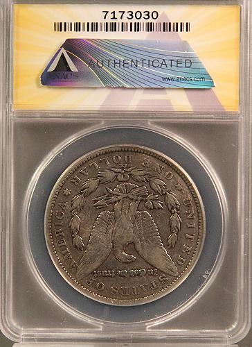 1891 CC Morgan Dollars Early Silver Dollars  F-15 4 photo's