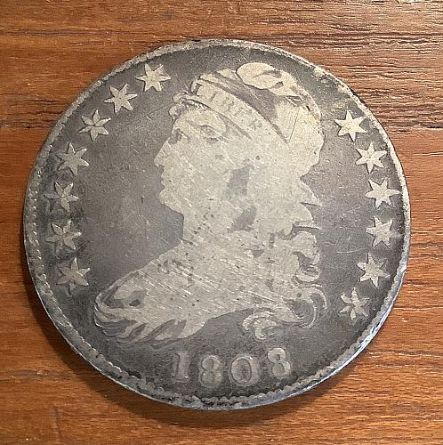 1808 P CAPPED BUST SILVER HALF DOLLAR