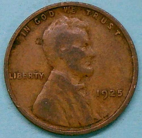 1925 Lincoln Wheat Cent Bronze Composite Penny  V2P4R2