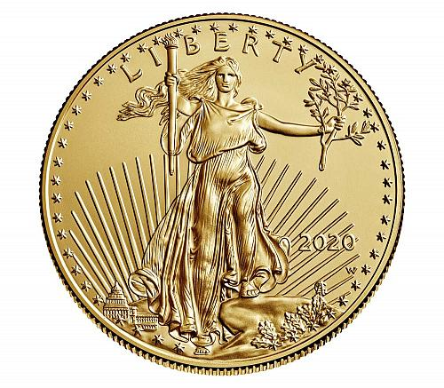 2020 W American Gold Eagle Bullion Coins: Burnished