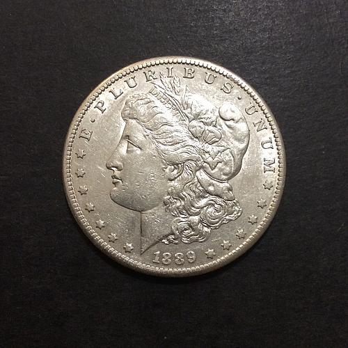1889 S Morgan dollar, low mintage semi-key date, XF/AU imo