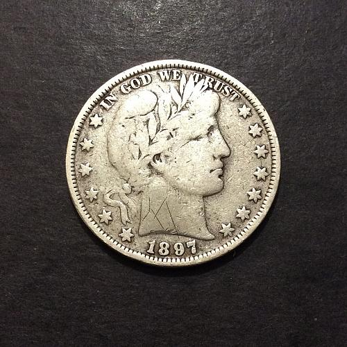 1897 P Barber Half Dollar, F w/details imo, see pics and description!