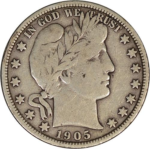 1905 Barber Half Dollar Fine - ToughCOINS