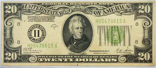1928 B $20 Federal Reserve Note ***Redeemable in Gold***