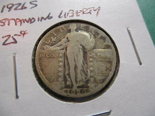 1926-S  F12 Standing Liberty Quarter.  Item: 25 ST26S-03.